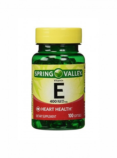 Viên uống bổ sung Vitamin E Spring Valley 400 IU 100 softgels - USA